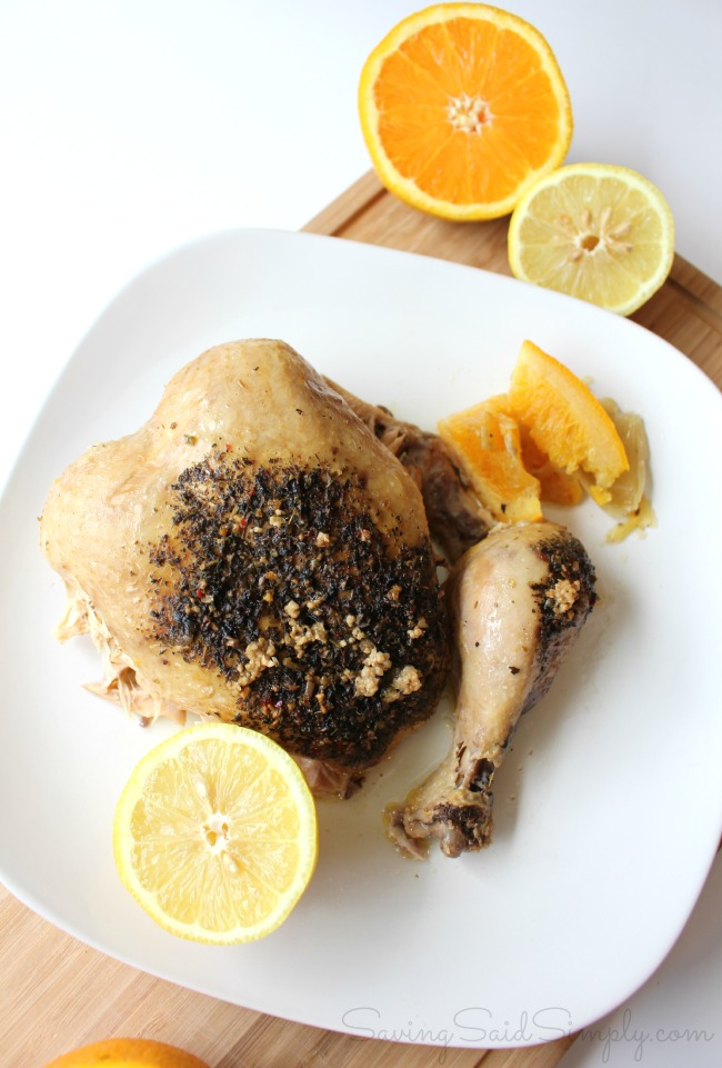 Whole chicken crockpot meal citrus