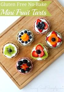 Gluten free no bake fruit tart recipe