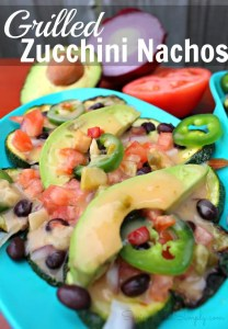 Griled zucchini nachos healthy recipe
