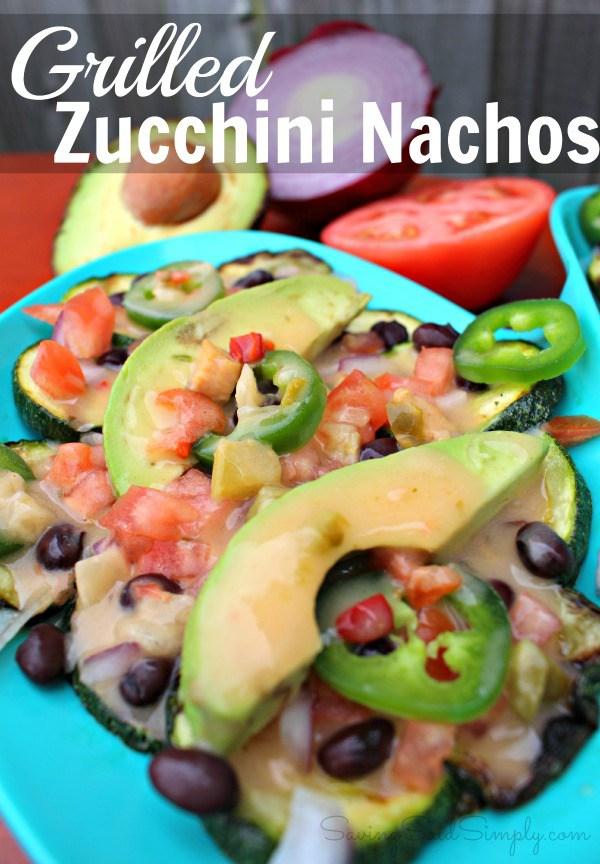 Griled zucchini nachos healthy recipe