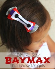 sew baymax hair bow diy - raising