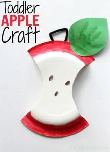 Toddler Apple Craft | I'm A WaterWipes Ambassador