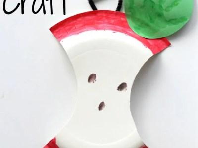 Toddler apple craft