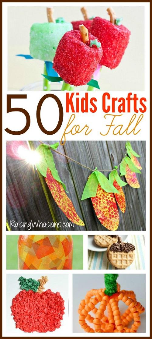 Fall kids crafts roundup