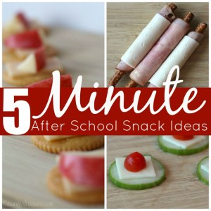 3 Easy After School Snack Ideas Made in 5 Minutes + Sweepstakes