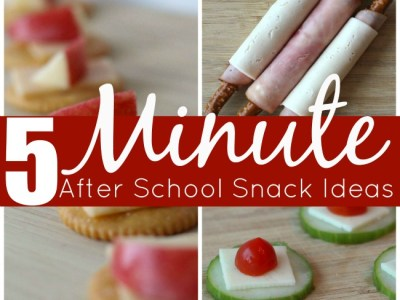Easy after school snack ideas made in 5 minutes