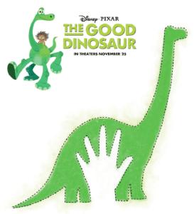 Free Disney The Good Dinosaur Pumpkin Stencil + Coloring Sheets #GoodDino