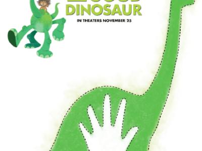 Free Disney the good dinosaur pumpkin stencil