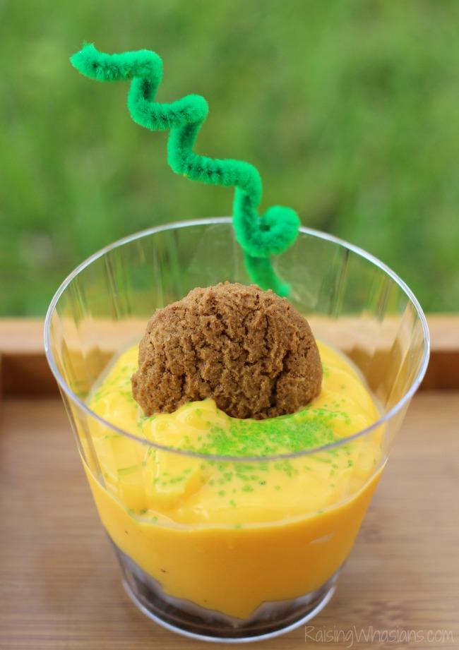 Halloween pudding cup idea
