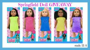 18 Inch Springfield Doll of Choice Giveaway