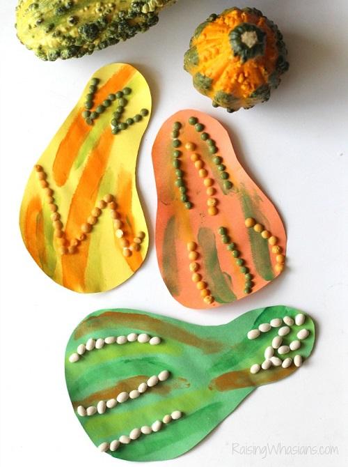 Fall gourd kids craft
