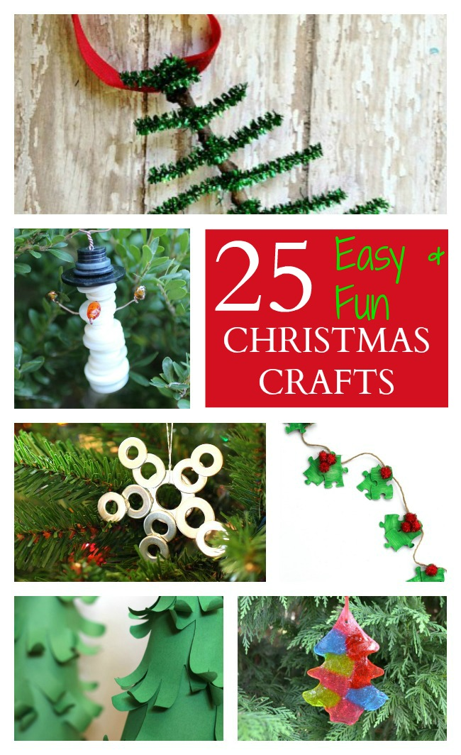 Easy fun Chrsistmas crafts for kids