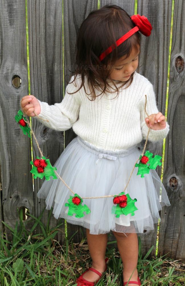 Holly garland kids craft