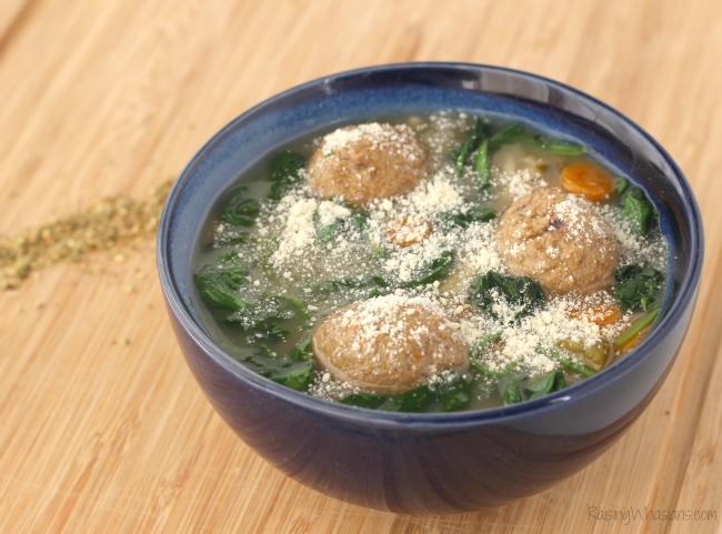 Gluten free crockpot meatball soup Gluten-Free Slow Cooker Italian Wedding Soup Recipe   A delicious healthier twist on a hearty soup for the family, made in your crock pot, no gluten #Recipe #SlowCooker #Soup #EasyRecipe #GlutenFree #GlutenFreeRecipe
