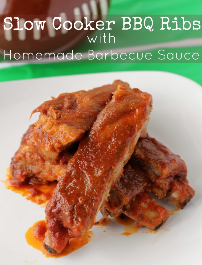 Homemade barbecue sauce slow cooker bbq ribs