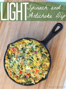 Light spinach and artichoke dip recipe
