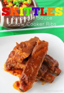 Skittles barbecue sauce slow cooker ribs