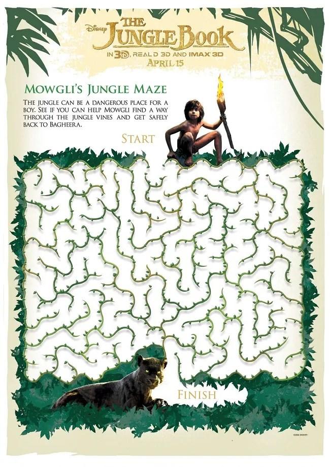 Free Disney jungle book printables for kids