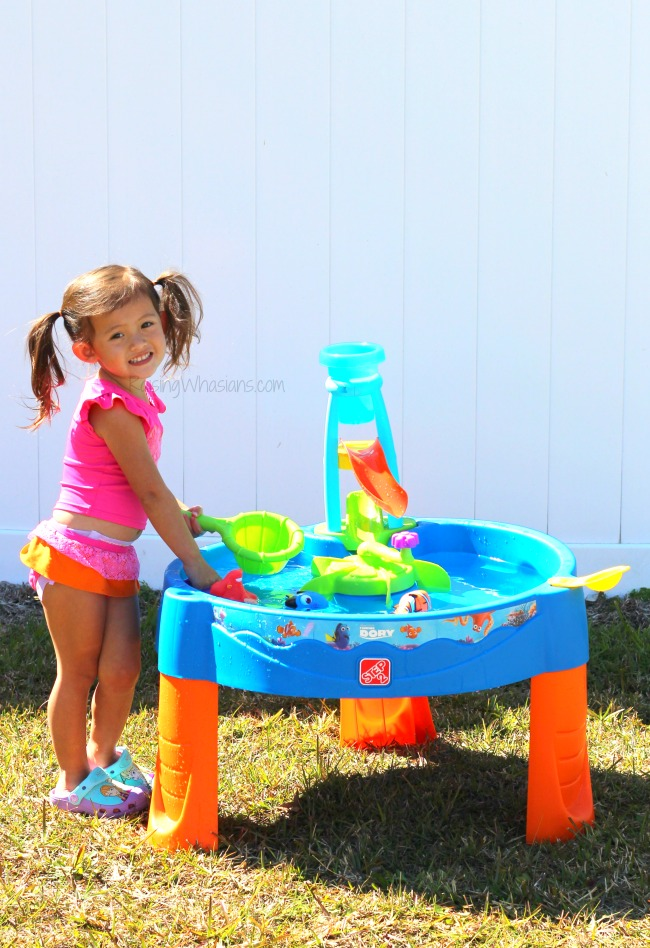 Step2 water table Finding Dory DIY Finding Dory Party + Step2 Water Table Giveaway | Disney party ideas & the new Step2 Finding Dory Whirlin' Waves Water Table#PartyPlanning #SummerFun #KidsActivities