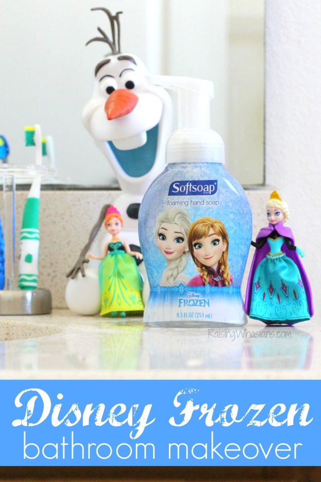 disney frozen bathroom makeover with softsoap + giveaway