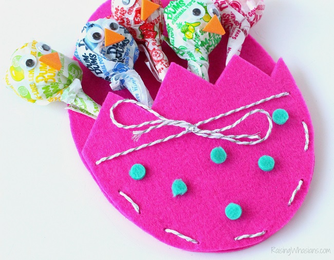 Kids Easter craft treat pouch