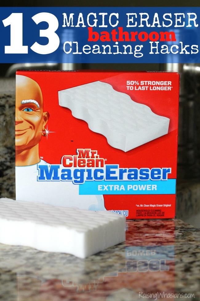 Mr clean magic eraser bathroom cleaning hacks