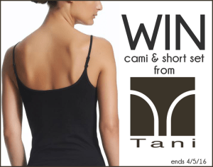 Tani USA Cami Set Giveaway – $100 Value