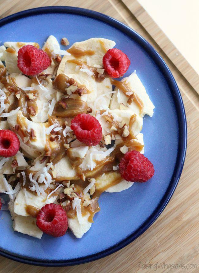 Apple nachos snack idea