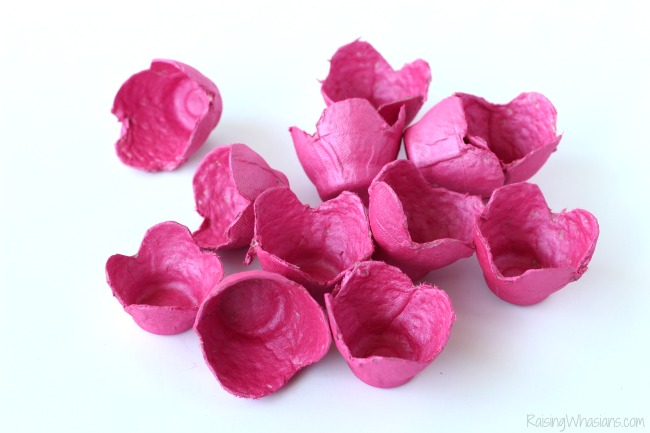 Egg carton cherry blossom craft