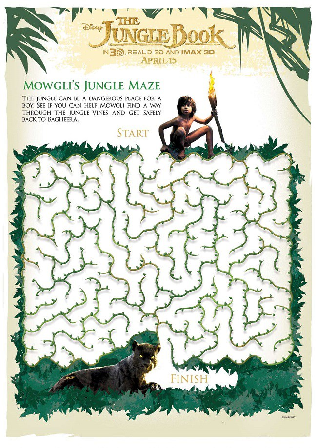 Free the jungle book printables for kids