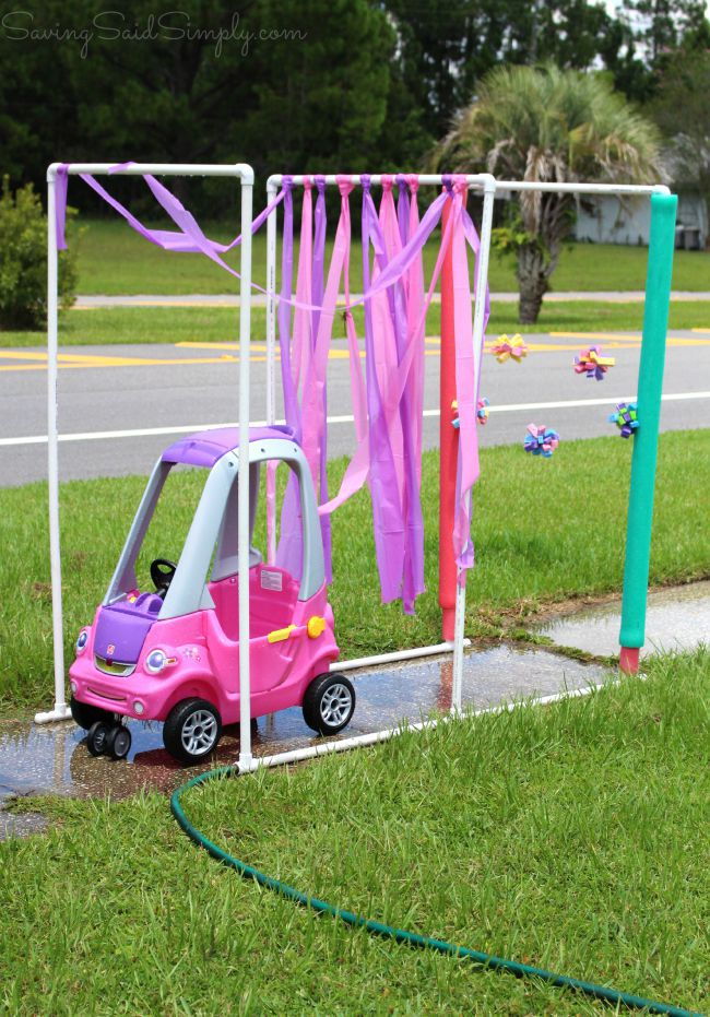 Make your own kids car wash