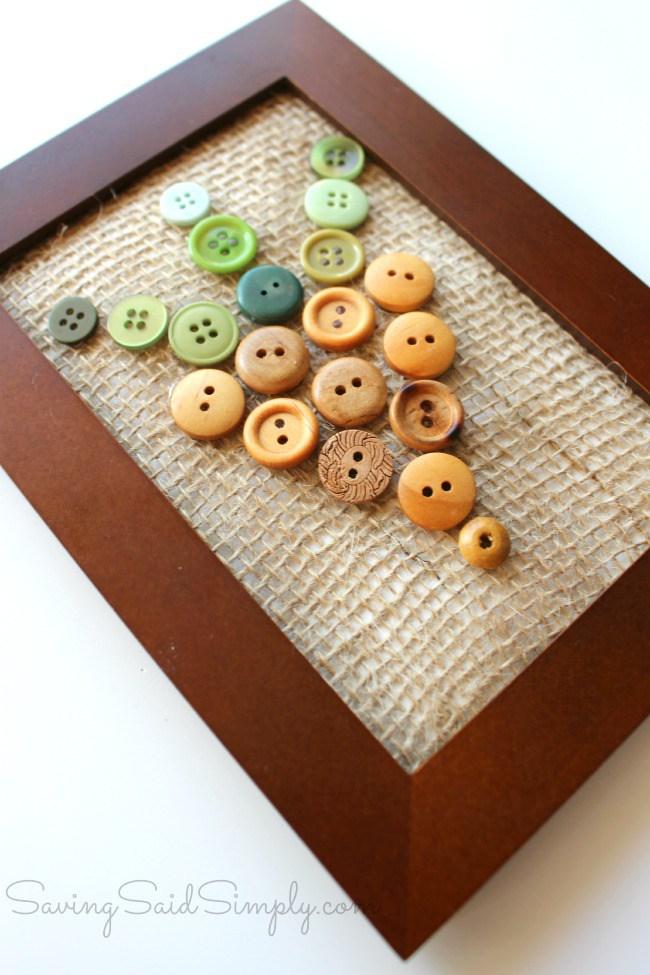 Spring button carrot craft
