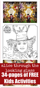 Free Alice Through the Looking Glass Coloring Pages #ThroughTheLookingGlass
