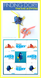 FREE Finding Dory Straw Topper Printable + Kids Activities #FindingDoryEvent