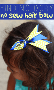 Finding Dory Hair Bow DIY