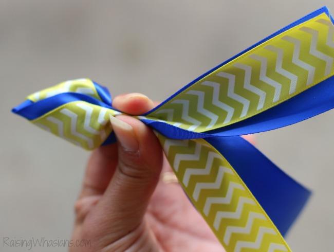 Finding Dory ribbon fish hair bow