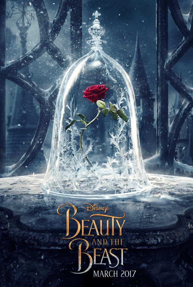 Beauty and the beast movie poster teaser
