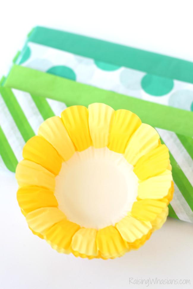 Easy pineapple craft idea