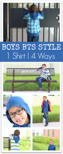 Boys Back-to-School Style | 1 Hooded Shirt 4 Ways