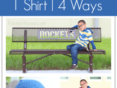 Back-to-school style 1 hooded shirt 4 ways
