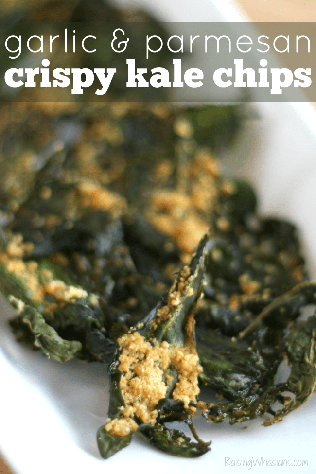 Crispy kale chips with garlic parmesan