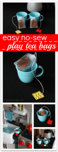 NO Sew Play Tea Bags Tutorial + Pretend Kitchen Fun