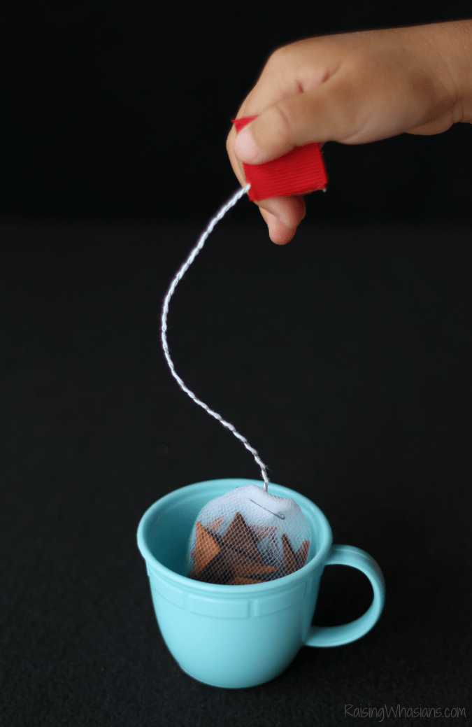 Pretend tea bags diy