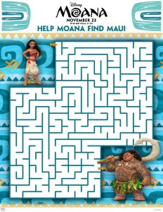 FREE Moana Coloring Sheets + Kids Activities #Moana