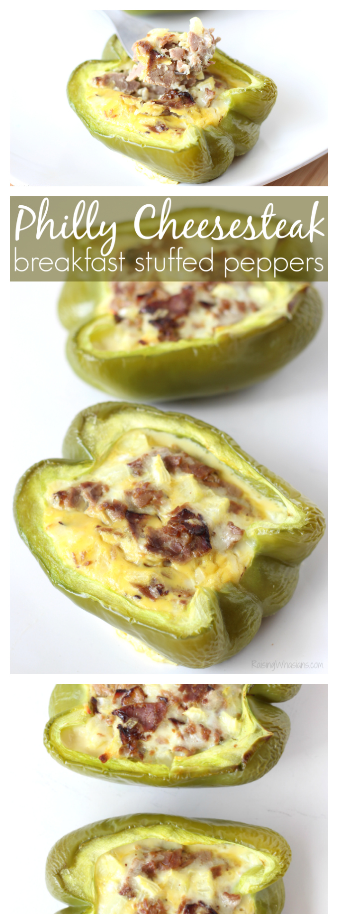 Philly cheesesteak stuffed peppers pinterest