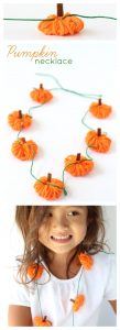 Pumpkin necklace craft pinterest