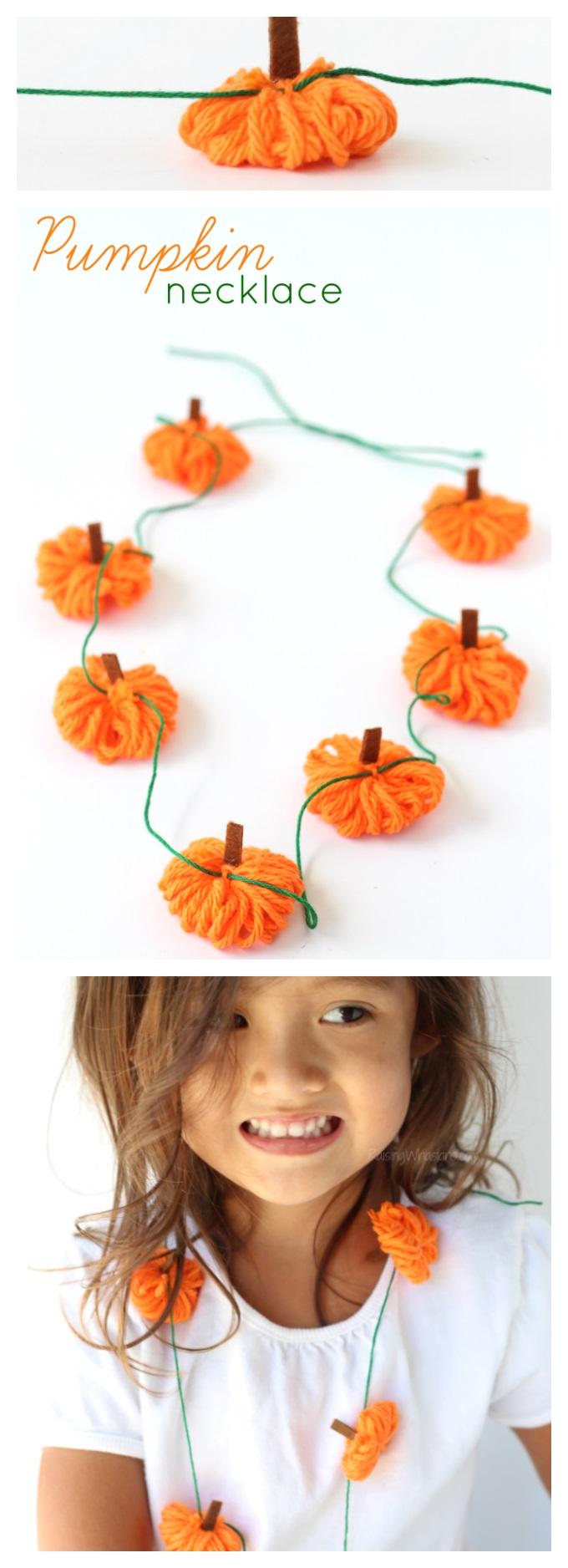 Pumpkin necklace craft pinterest