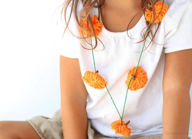 Pumpkin necklace craft