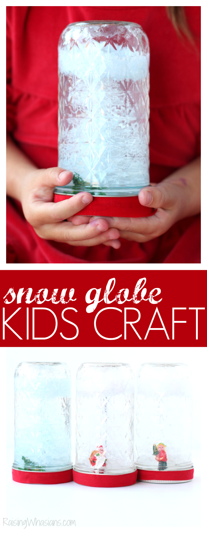 DIY holiday snow globe craft made with family dollar