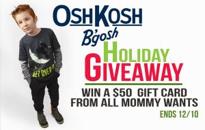 Holiday Shopping with OshKosh + $50 Gift Card Giveaway